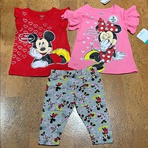Disney Baby Girls 24M Minnie Mouse 3-Piece Set